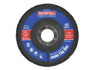 Abrasive Jumbo Flap Disc 115mm Coarse
